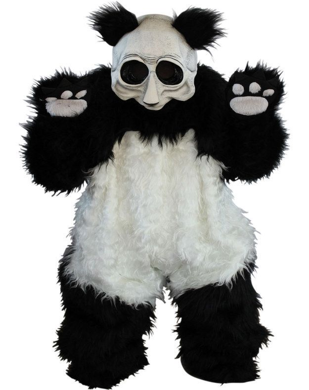 """""""Panda Costume""""   Community Post: 19 Ridiculously Weird Halloween Costumes You Won't Believe Exist because the panda's not supposed to look like a zombie"""