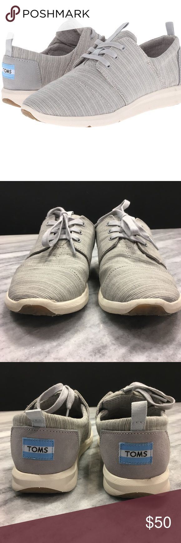 TOMS Light Grey Del Rey Sneakers Shoes Gently used, size 8, comfortable sneakers. No stains or scuffs!!! Please feel free to ask me any questions and bundle items for a bigger discount! Toms Shoes Sneakers