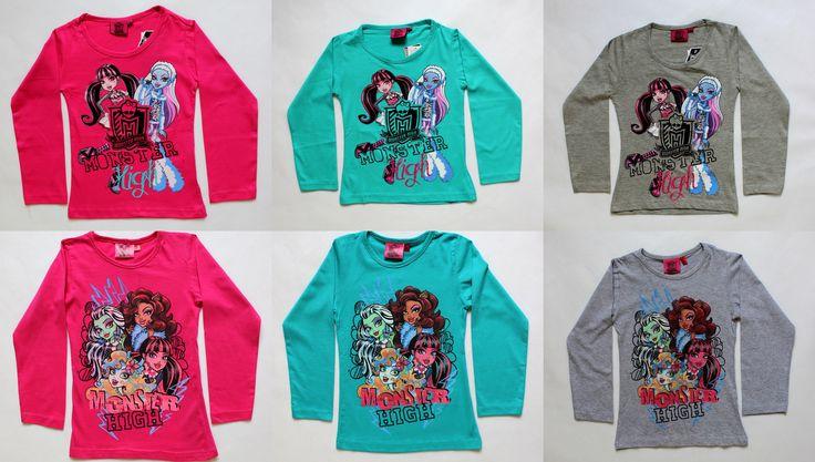 Monster High hosszú ujjú gyerek pólók hatalmas választékban. Újgyerekruha webáruház.  http://www.ujgyerekruha.hu/monster_high
