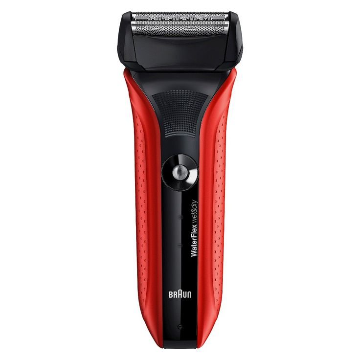 Braun WaterFlex Wet & Dry Men's Rechargeable Electric Shaver - WF2S, Red
