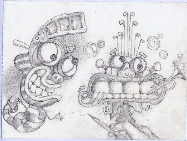 Ms de 25 ideas increbles sobre Dibujos locos en Pinterest  El