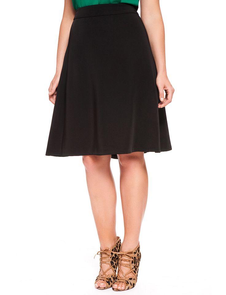 Bias Crepe A-Line Skirt | Women's Plus Size Skirts 2