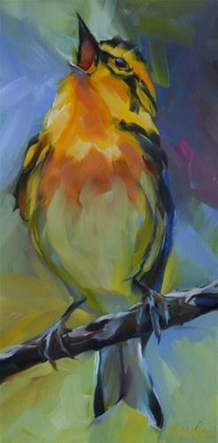 "Daily Paintworks - ""Big Little Bird"" - Original Fine Art for Sale - © Beth Charles"