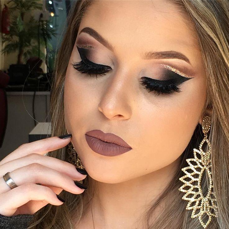 """10 mil curtidas, 101 comentários - Michelly Palma Makeup (@michellypalmamakeup) no Instagram: """"Difícil não achar maravilhosa essa maquiagem  Combinação perfeita de Make , modelo @amandaburali,…"""""""