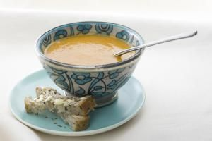 Carrot Soup with a Hint of Ginger and Lemon to Warm You Through: Carrot Soup and Crusty Bread