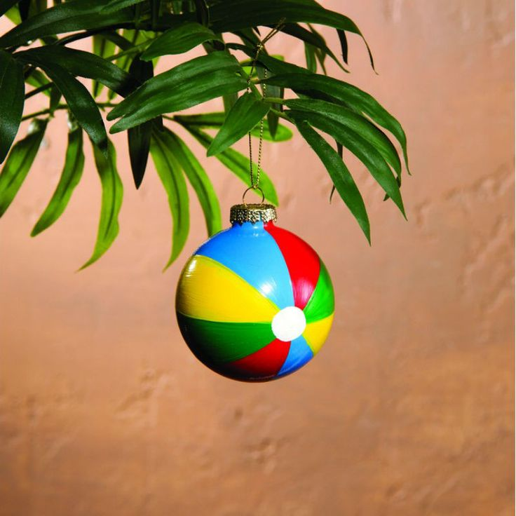 """Colorful glass ornaments are fun and are sure to be a show stopper on your beach themed holiday tree. Sold only as a set of 3. Dimensions: 3"""" Dia. Shipping weight: less than 1 lb."""
