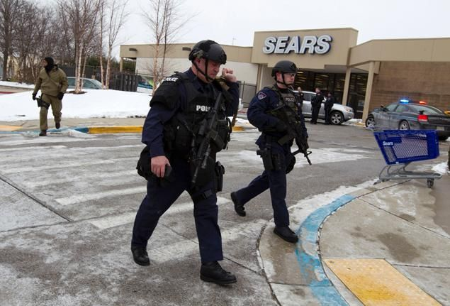 Three people confirmed dead in shooting at suburban Baltimore Mall in Columbia, including suspected gunman who was 17 YEARS OLD! Who was stated to have a shotgun and a LARGE amount of Ammunition (1-26-14;NYDailyNews)...~oh no we don't have a gun problem in America, not at all....