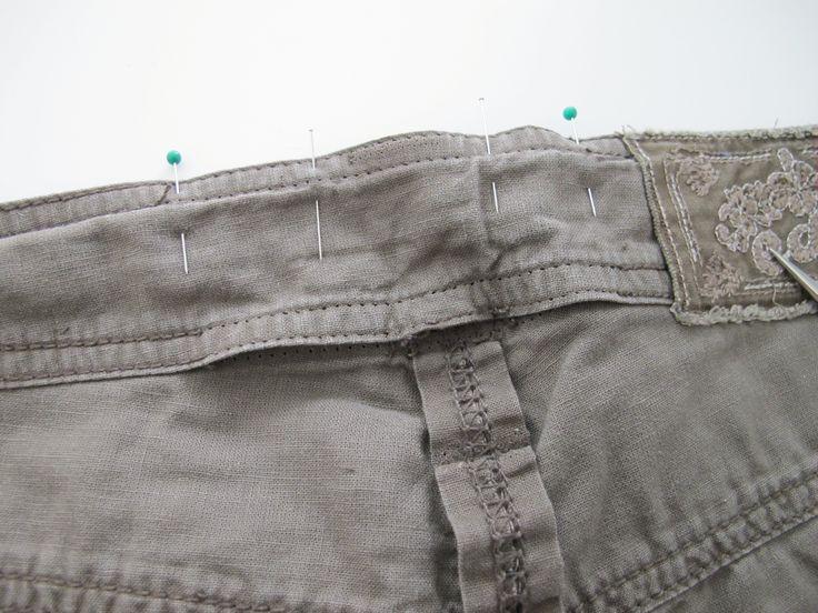 DIY - tutoriel de couture: reprendre un pantalon à la taille   Retouches de couture
