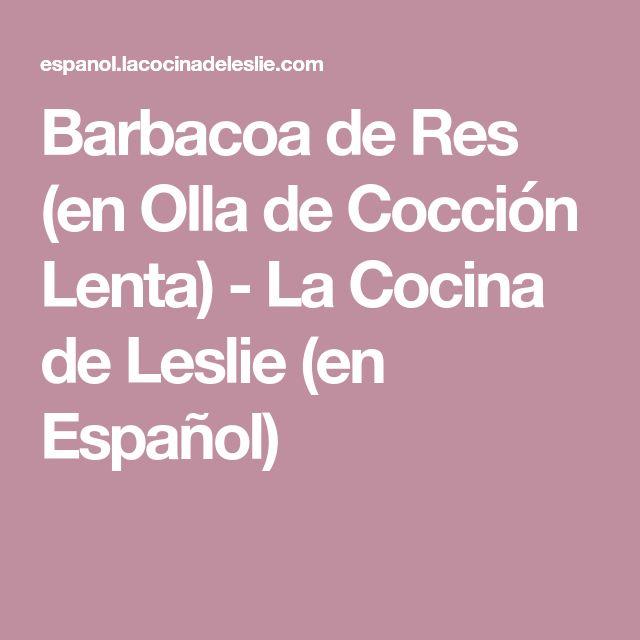 Barbacoa de Res (en Olla de Cocción Lenta) - La Cocina de Leslie (en Español)
