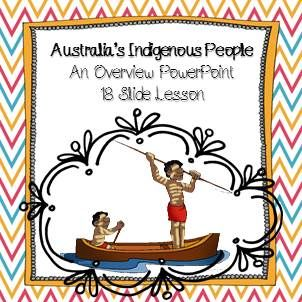 Australia's Indigenous People: An Overview PowerPoint 18 Slides sequential lesson on Aboriginal and Torres Strait Islander culture and language.