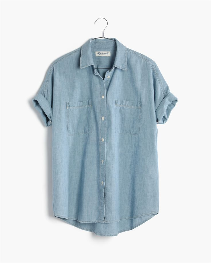 madewell chambray courier shirt.
