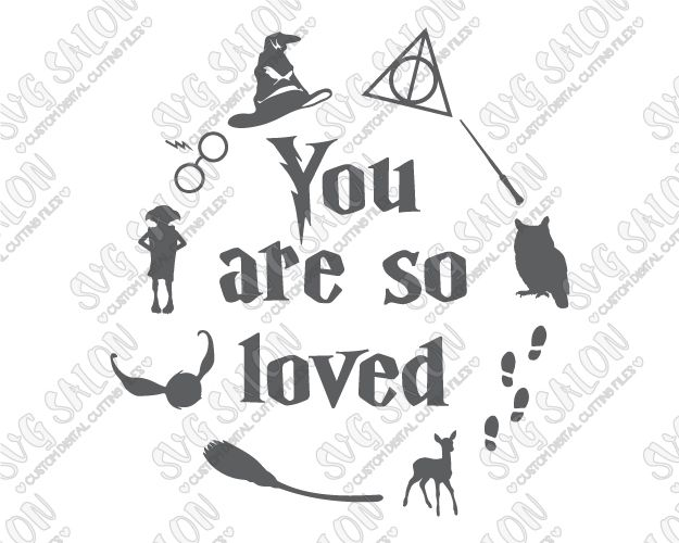 You Are So Loved Cut File in SVG, EPS, DXF, JPEG, and PNG