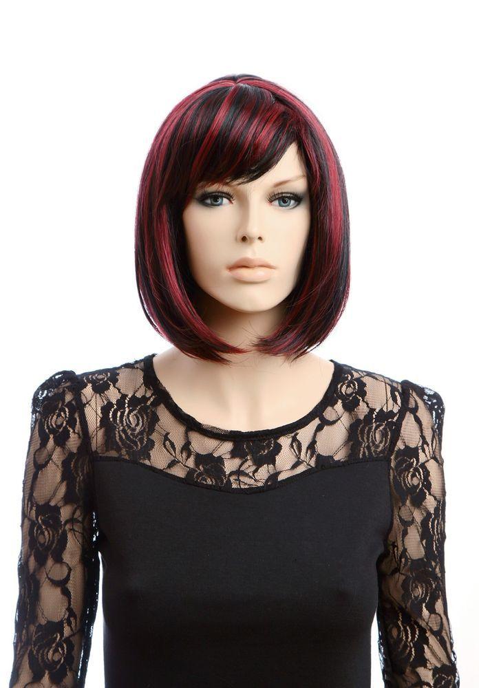 Red Highlights BOBO Straight Female Wig 100%Kanekalon Sythetic Fiber for http://www.ebay.com/itm/Red-Highlights-BOBO-Straight-Female-Wig-100-Kanekalon-Sythetic-Fiber-Cosplay-/361161615424?pt=LH_DefaultDomain_0&hash=item5416e8e840Cosplay #wigiss #HairFallHalfWig
