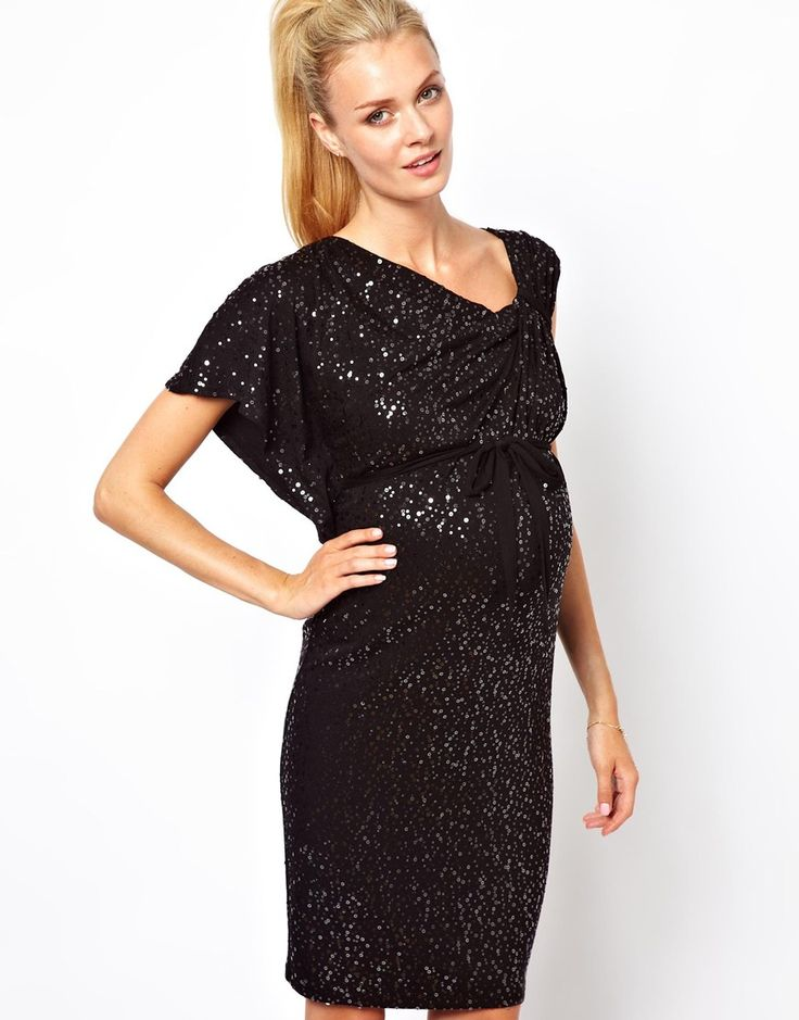 Isabella oliver sequin asymmetric dress occasion for Pregnant wedding guest dress