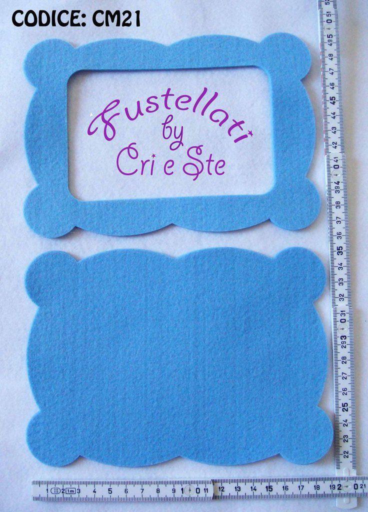 Fustellato Feltro Cornice CM21, by Fustellati, 2,00 € su misshobby.com