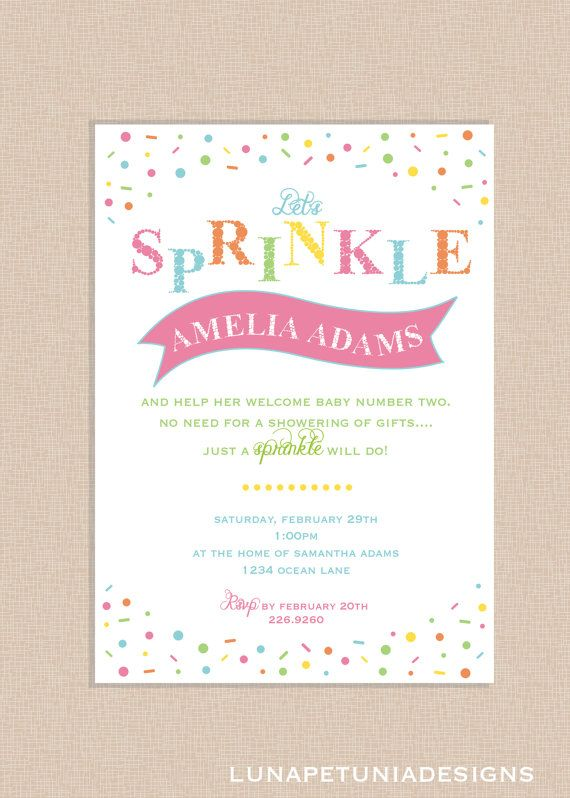 Sprinkles . Baby Shower . Invitation . Any colors