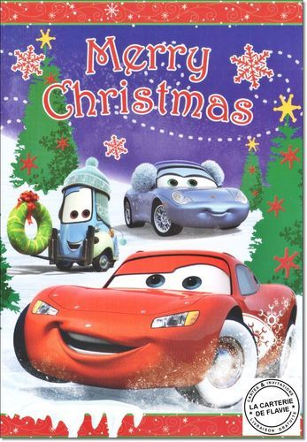 Cartes Disney Noël Cars Offrez une vraie et jolie carte, livraison gratuite à retrouver:  #Disney #Cars #Noël #JoyeuxNoel #Disneyland