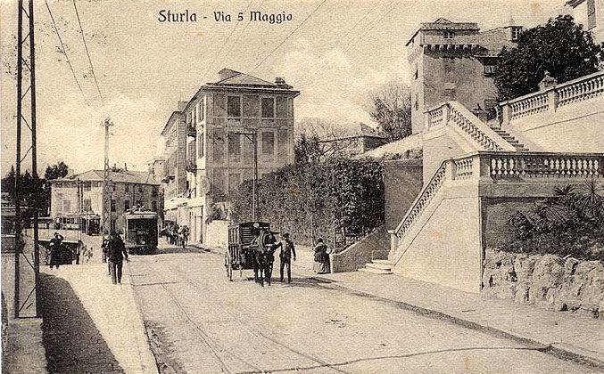 STURLA - Via 5 Maggio - FOTO STORICHE CARTOLINE ANTICHE E RICORDI DELLA LIGURIA