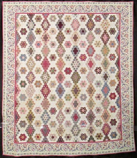 Barbara Brackman's MATERIAL CULTURE: French Reproduction Quilts at Quilt Market