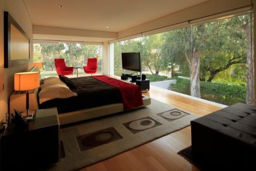 Godoy House / Hernandez Silva Arquitectos - interior roll up shades.