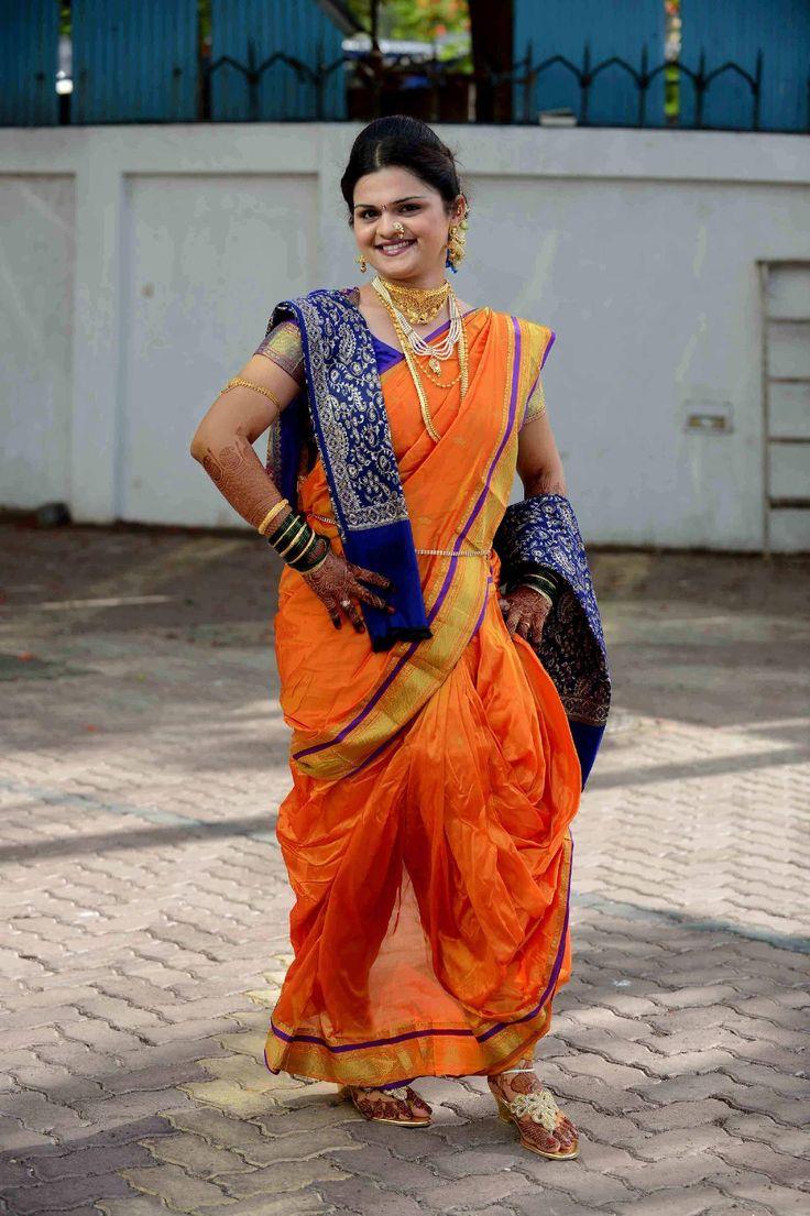 Maharashtrian Bride in Nauvari Saree