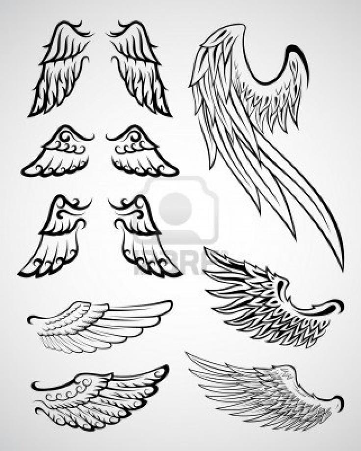 Collection des ailes Banque d'images