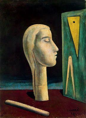Carlo Carrà (1981-1966, Italy), 1921, La maîtresse de l'ingénieur (The mistress of the engineer), Fondation Peggy Guggenheim, Venise. #Italian #Futurist #Painter