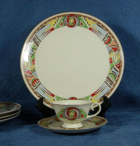 29 best favorite vintage dinnerware images on pinterest vintage ten pieces of whirlwind china by flintridge designed by lillian wilhelm smith fandeluxe Image collections