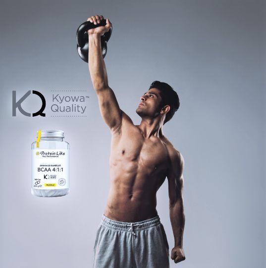 BCAA 4:1:1 La formula avanzata e migliorata che rispecchia il rapporto 4:1:1, presentando più leucina e stimola in maggior modo la crescita muscolare. Normalmente, la composizione di amminoacidi ramificati in commercio presenta un rapporto pari a 2:1:1. BCAA 4:1:1 | BENEFICI Ogni capsula presenta un grammo di aminoacidi  Kyowa Quality®    I BCAA possono essere assunti durante il giorno, prima o dopo l'allenamento, per aiutare la crescita e il mantenimento della massa magra.  Gli aminoacidi…