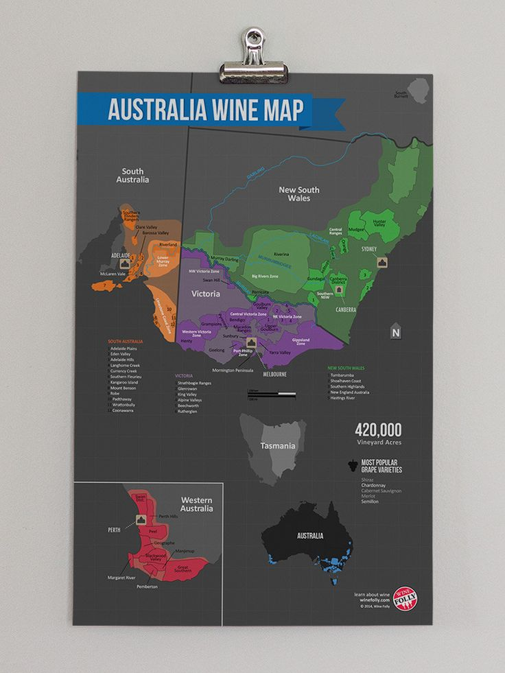 Australia Wine Region Map