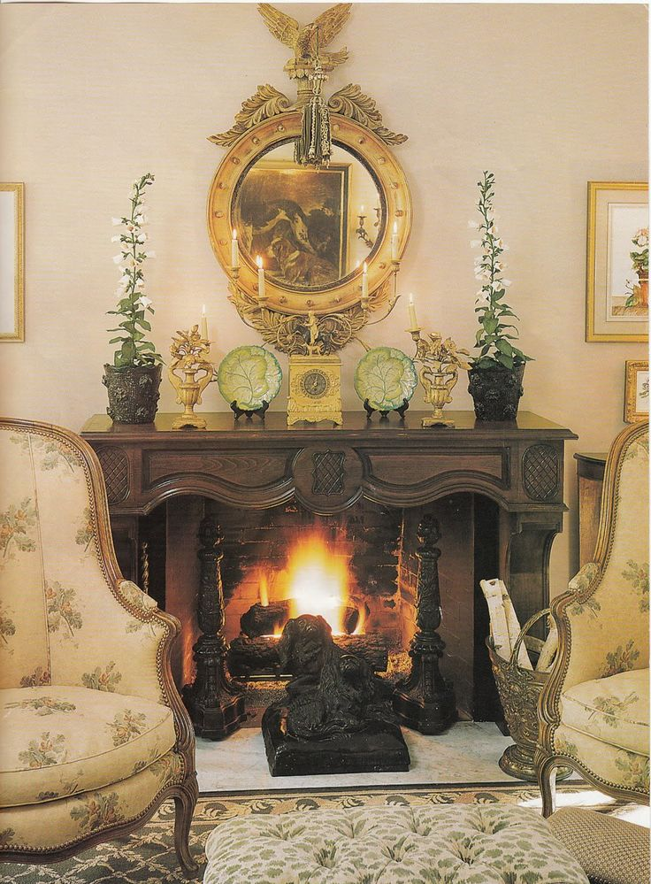 352 best charles faudree images on pinterest country for French country fireplace ideas
