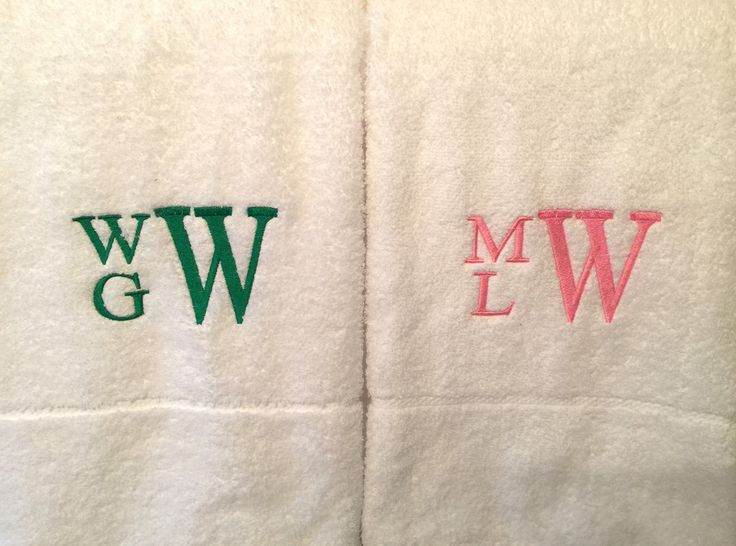 Monogrammed Bath Towel Set - Monogrammed Towels - Personalized Towel - Cottage Towels - Graduation Gift - Housewarming by MJMonograms on Etsy