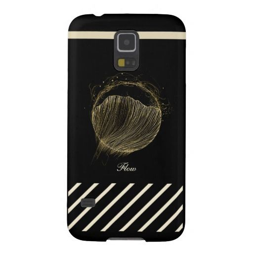 Samsung Galaxy S5 Phone Case, Flow On Black Case For Galaxy S5 - Theracreativa Lounge on Zazzle