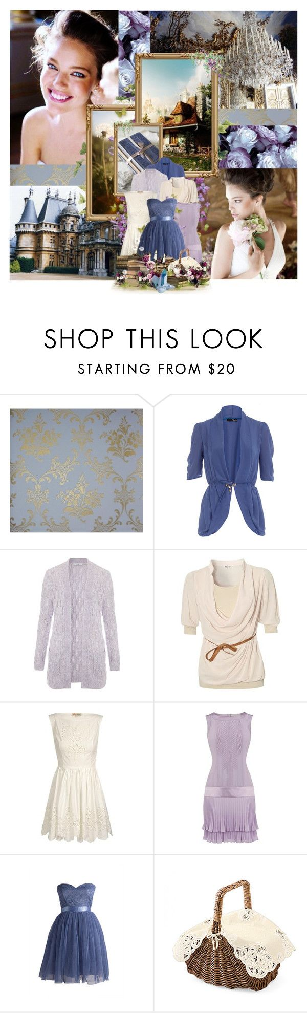 """""""Her head's up on some cloud..."""" by elsabear ❤ liked on Polyvore featuring L.A.M.B., Dorothy Perkins, WalG, Opening Ceremony, Karen Millen, disney dreamcast, belle, beast, castle and lumiere"""