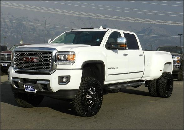 Burning a whole In our inventory right now.  How about parking this in the driveway!  2015 GMC Sierra 3500HD DENALI Truck   The advanced DURAMAX diesel in the 3500 Denali delivers 397 hp and 765 lb-ft of torque, also offers a highway range of up to 680 miles on a single fill-up!  (877) 998-5951  http://www.wattsautomotive.com/detail-2015-gmc-sierra_3500hd-denali-used-13164586.html  #wattsautomotive #wattsauto #white #truck #trucks #lifted