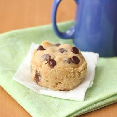 3 Minute Chocolate Chip Cookie in a Mug (this one has no egg in it. Which is great when you don't feel like separating an egg and throwing out part of it. Yummy too!)