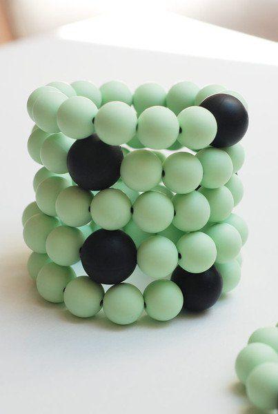 Mili-tu | Bransoletka silikonowa Mint Koolki