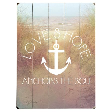 love and hope anchors the soul