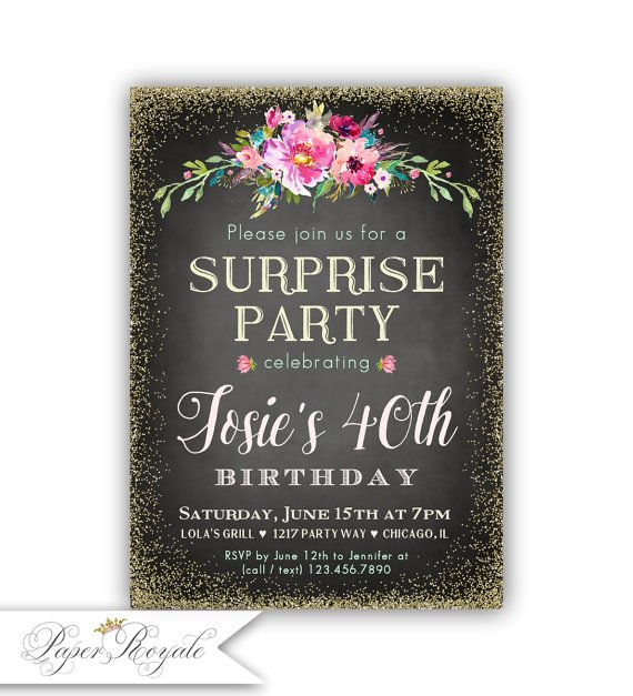 109 best Surprise Birthday Party Invitations images – Birthday Dinner Party Invitations
