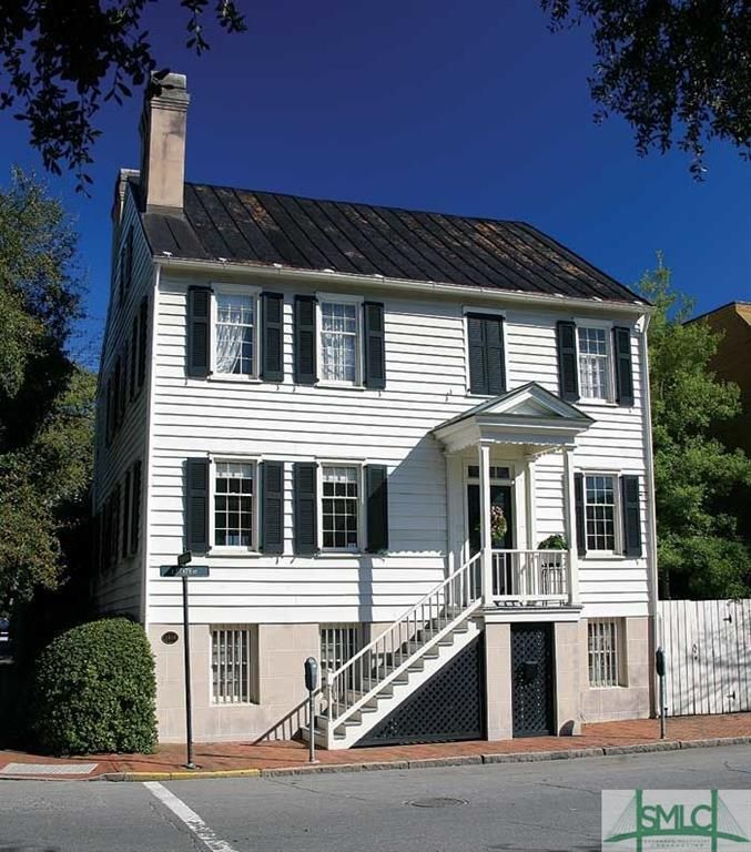 402 E State Street.  A remarkable piece of Savannah history, this Federal architecture style home was built in 1818.