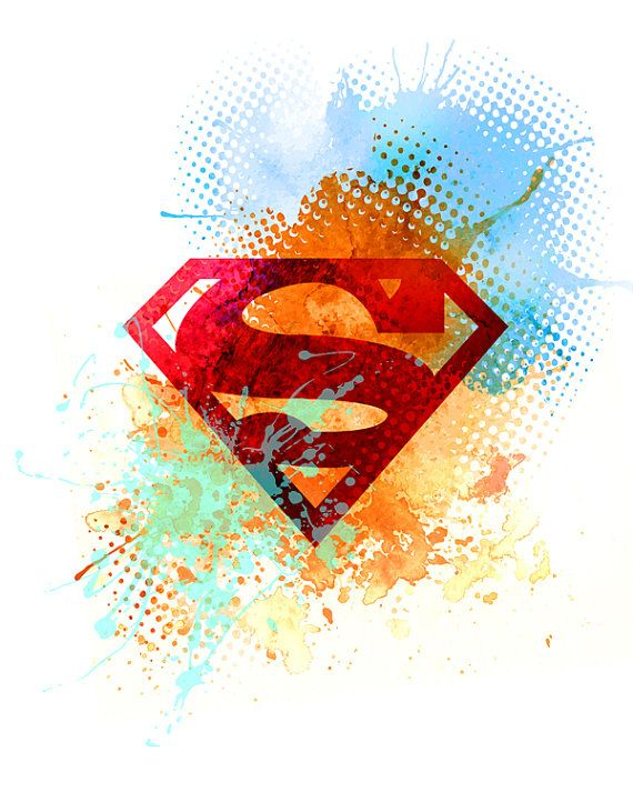 Superman / instant download / printable art / por TalkingJam
