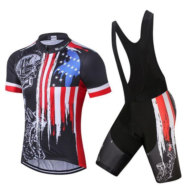 20e6f3129 USA Skull Bike Jersey set