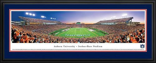 auburn university tigers panoramic picture deluxe matted frame