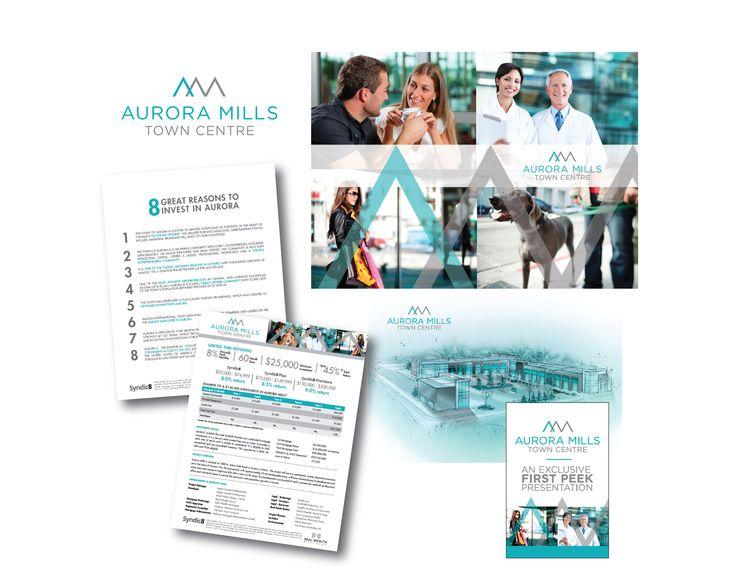 Aurora Mills Town Centre Communication Materials Design