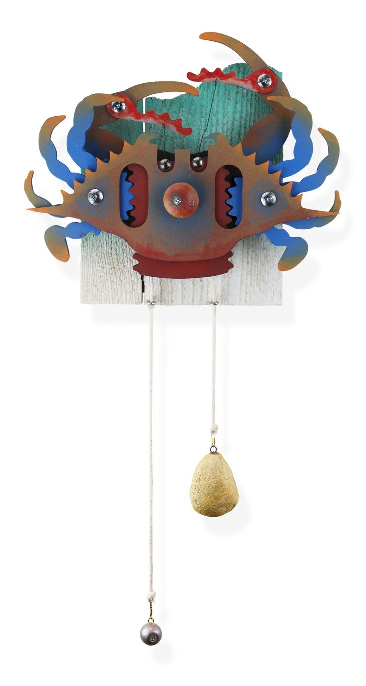 18 best my coastal folk art images on pinterest folk art wood mumbo blue new mechanical blue crab wall art by jim dixon www amipublicfo Gallery