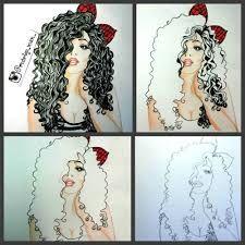 Resultado de imagem para cabelos cacheados desenho