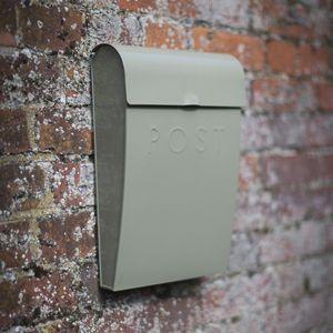 Boîte aux lettres en acier couleur argile fermeture à clé