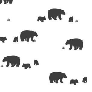 Bear Crib Bedding Black White Bear Crib Sheet - Woodland Nursery Bedding -Mini Crib Bedding Set -Changing Pad Covers -Fitted Crib Sheets by Babiease on Etsy
