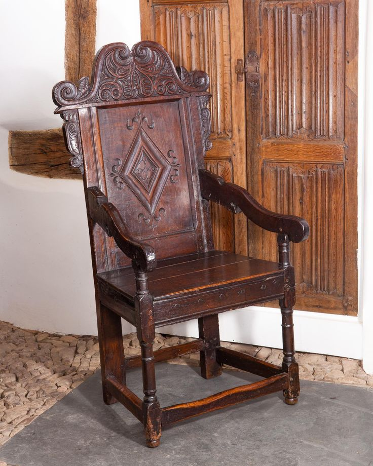 17th century Yorkshire joined oak armchair, circa 1650. Marhamchurch antiques