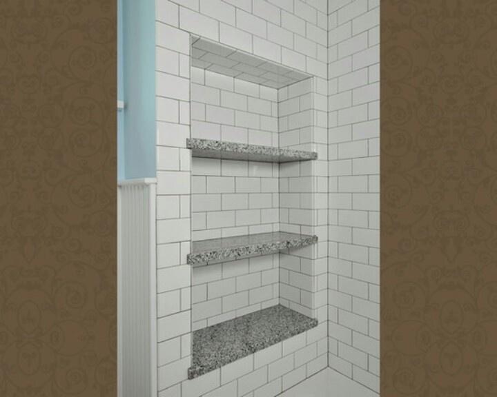 Extra storage in the bath. No shower caddies needed!